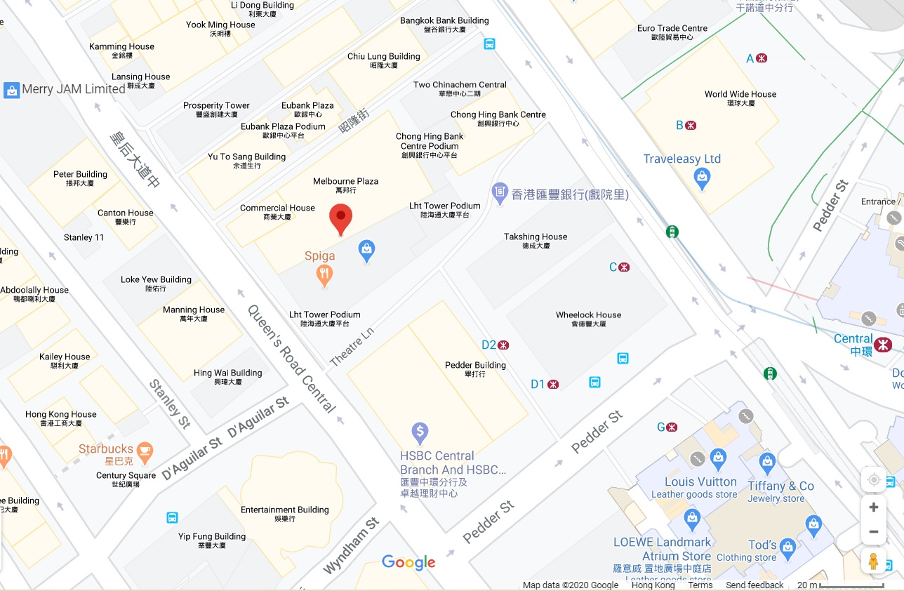 Location Map to Techspot at Melbourne Plaza in Central